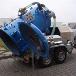 Odvoz odpadních vod - vlek modrý