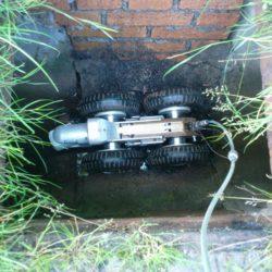 Kamerový průzkum kanalizace - samochodná kamera (robot)