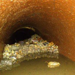 Kamerový průzkum kanalizace - pohled robota
